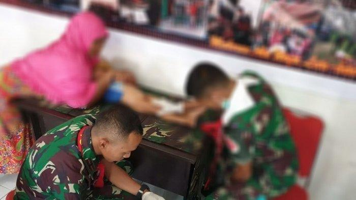 Satgas Yonif 734/SNS Gelar Sunat Massal Gratis untuk 150 Anak di Halmahera Utara
