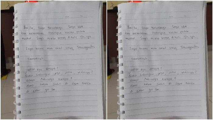VIRAL Teman Tuli Pergi ke Bank di Tengah Pandemi, Sikap Satpam Bikin Terharu: Bantu Tuliskan Pesan