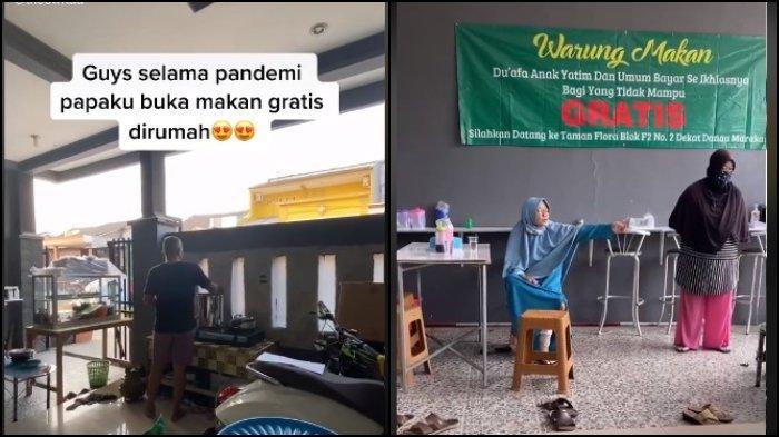 Satu keluarga di Bekasi, Jawa Barat membuka warung makan gratis bagi