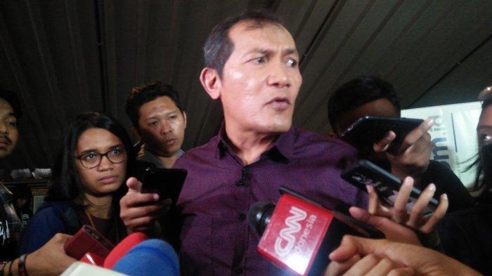 Wakil Ketua Komisi Pemberantasan Korupsi (KPK) Saut Situmorang usai diskusi di kawasam Menteng Jakarta Pusat pada Minggu (8/12/2019).