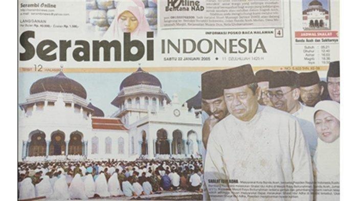 16 Tahun Tsunami Aceh, Lebaran Idul Adha Penuh Duka, SBY - Ani Ikut Salat Ied di Masjid Baiturrahman