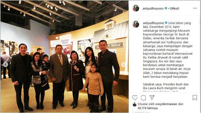 SBY dan keluarga kunjungi Museum Kepresidenan George W. Bush di Dallas