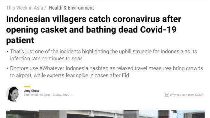 Media Asing Soroti Insiden Corona Indonesia, 15 Terinfeksi karena Buka Peti hingga Kerumunan di Bandara