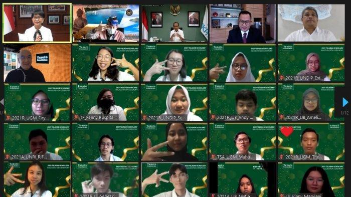 Disaksikan 3 Menteri, Tanoto Foundation Kukuhkan 170 Mahasiswa Peserta Program Teladan 2021