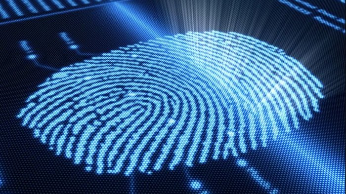 Ilustrasi teknologi Screen Touch ID.
