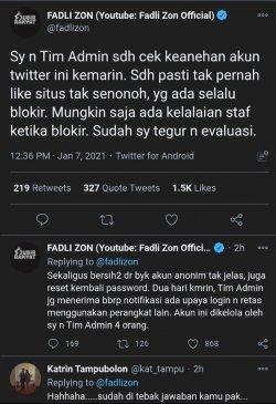 screenshot akun Twitter Fadli Zon.