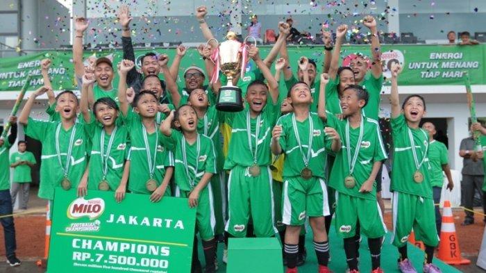 SD Islam Al Jannah Cibubur Rebut Gelar Juara MILO Football Championship Jakarta 2018
