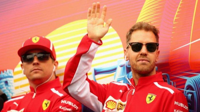 Sebastian Vettel dan Kimi Raikkonen