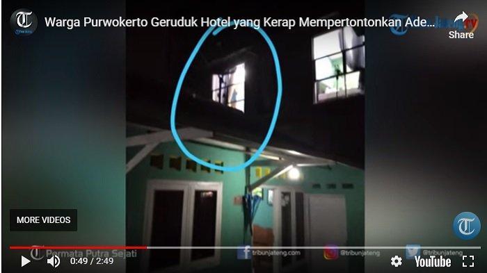 Sebuah hotel di Purwokerto, Banyumas kerap pertontonkan adegan mesum