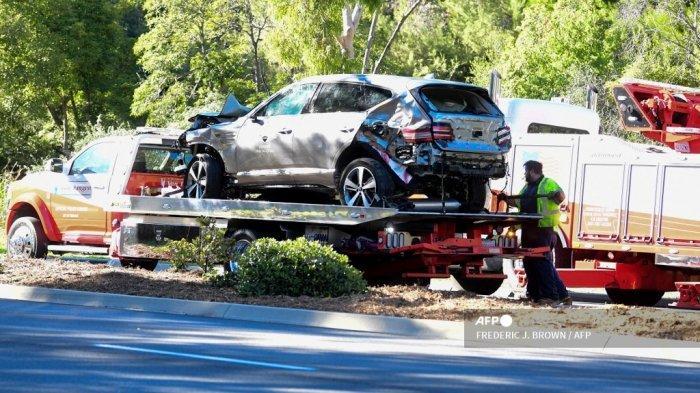 Pegolf Dunia Tiger Woods Alami Kecelakaan Mobil Tunggal