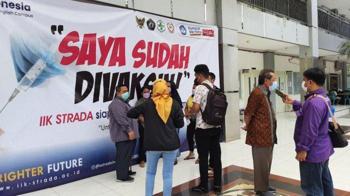 Persiapkan PTM, Ribuan Mahasiswa IIK Strada Indonesia Telah Divaksin