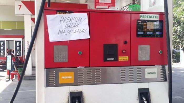 Sejumlah SPBU di Tangerang Selatan mengalami kehabisan stok bensin Premium