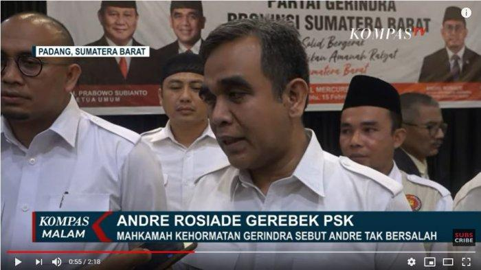Soal Penggerebekan Andre Rosiade, Sekjen Gerindra: Tidak Ada Kesalahan dan Pelanggaran