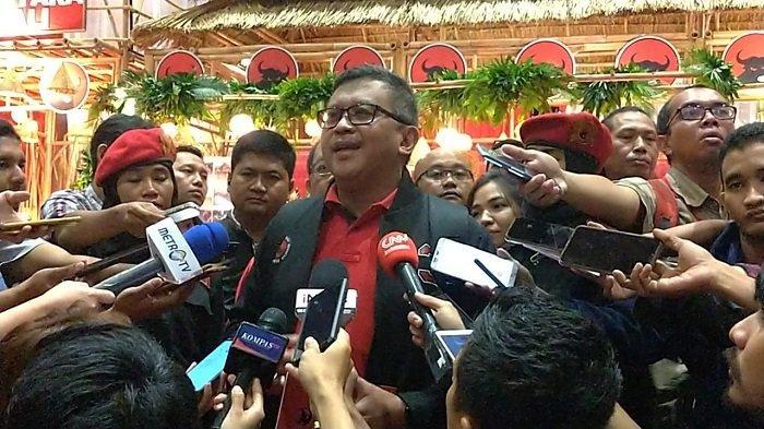 Sekjen PDI Perjuangan Hasto Kristiyanto di JIExpo Kemayoran, Jakarta Pusat, Kamis (9/1/2020).
