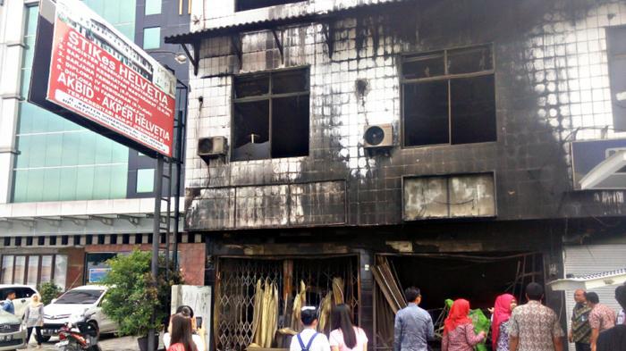 Kebakaran STIKes Helvetia Diduga Akibat Korsleting Komputer