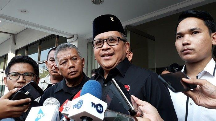 Sekretaris Jenderal PDI Perjuangan Hasto Kristiyanto saat ditemui di kawasan Cikini, Jakarta Pusat, Senin (22/7/2019).