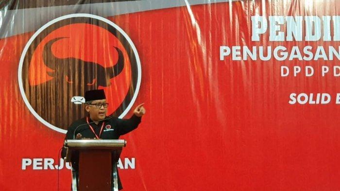 Sekretaris Jenderal PDI Perjuangan (PDIP) Hasto Kristiyanto di Hotel Utami, Sidoarjo, Kamis (5/9/2019) malam.