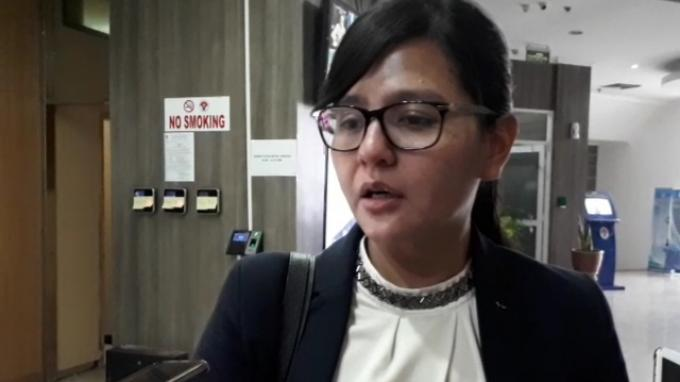 Sekretaris Jendral PSSI, Ratu Tisha saat diwawancarai seusai bertemu dengan Sesmenpora bahas persiapan Piala Dunia U-20 2021 di Kemenpora, Senayan, Jakarta, Kamis (21/11/2019).