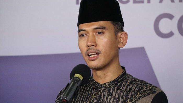 Sekretaris Komisi Fatwa MUI, Asrorun Niam Sholeh di Media Center Gugus Tugas Percepatan Penanganan Covid-19, Graha Badan Nasional Penanggulangan Bencana (BNPB), Jakarta, Senin (18/5/2020).