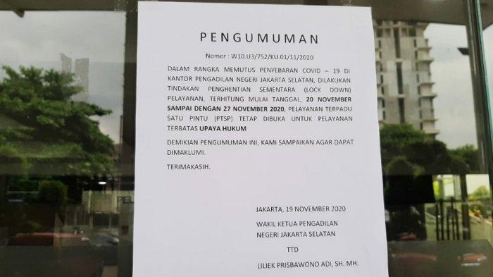 Sopir Pribadi Ketua Pengadilan Meninggal Karena Corona, PN Jaksel Tutup Selama 7 Hari