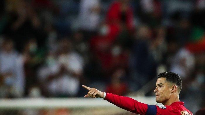 Selebrasi Cristiano Ronaldo Usai Cetak Gol ke Gawang Luxemburg
