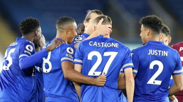 Selebrasi gol Leicester City saat menjamu Burnley pada pekan kedua Liga Inggris