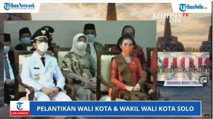 Selvi Ananda (kanan), istri Wali Kota Solo Gibran Rakabuming Raka, dilantik sebagai Ketua Tim Penggerak PKK Kota Solo dan Ketua Dewan Kerajinan Nasional Daerah Dekranasda (Dekranasda).