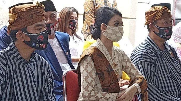 Selvi Ananda, terlihat cantik memakai baju kebaya Jawa bersama Gibran, Jumat (4/9/2020).