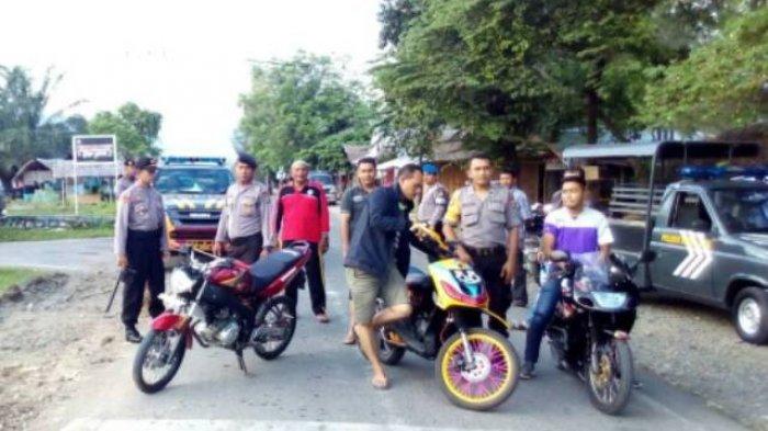 Para Peserta Balap Liar Lari Kocar-kacir, 9 Sepeda Motornya Disita Polisi