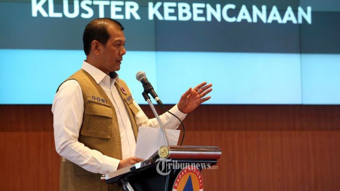 Kepala Badan Nasional Penanggulangan Bencana (BNPB) Doni Monardo (TRIBUNNEWS.COM/TRIBUNNEWS.COM/FX ISMANTO)