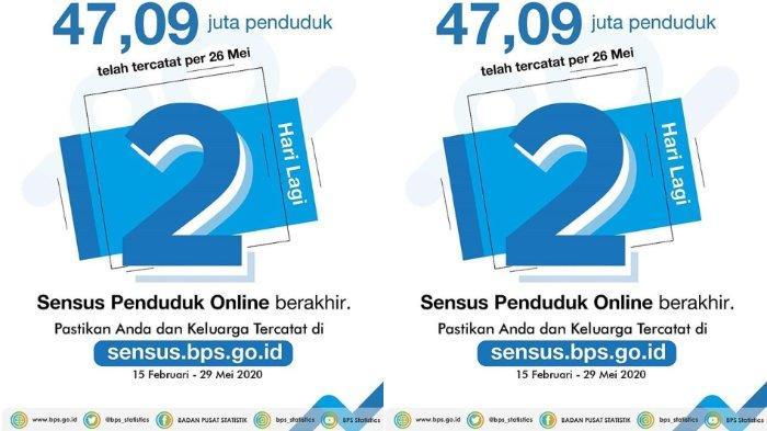 Login www.sensus.bps.go.id, Sensus Penduduk Online 2020 Berakhir 29 Mei, Berikut Persyaratannya
