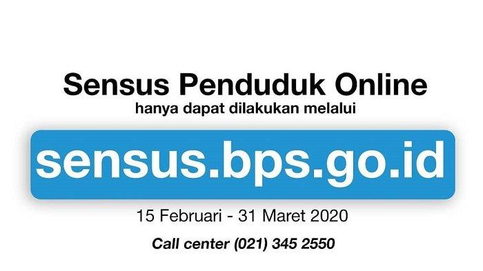 Login sensus.bps.go.id, Segera Isi Data Sensus Penduduk Online 2020, Terakhir 31 Maret