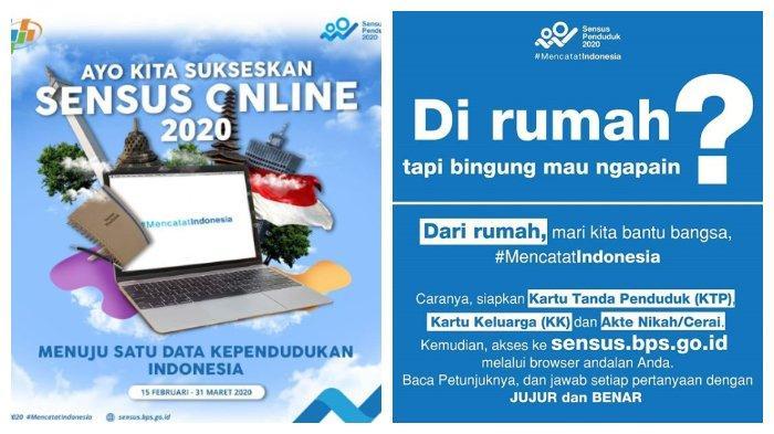 Batas Akhir Sensus Penduduk Online 31 Maret 2020, Akses Situs Resmi BPS di sensus.bps.go.id