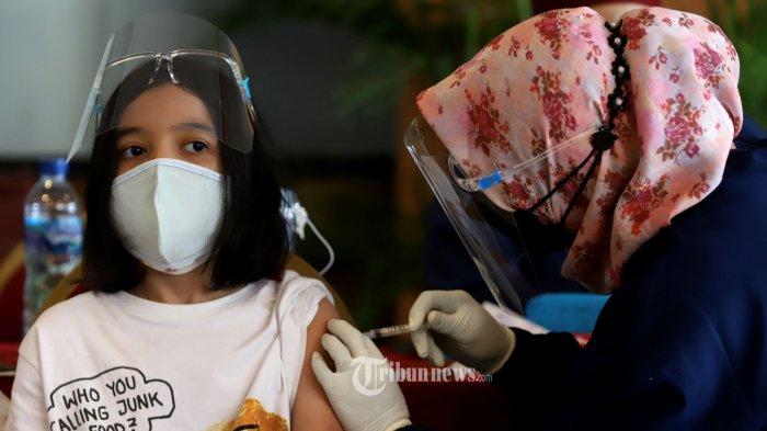 718 Ribu Anak Telah Vaksinasi Covid-19Dosis Pertama