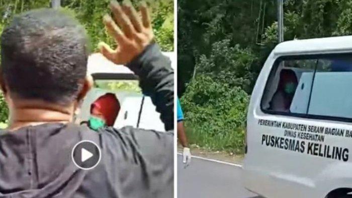Warga Menangis & Suara Bergetar Doakan Bidan Desa Terpapar Corona Dijemput Ambulans, Videonay Viral