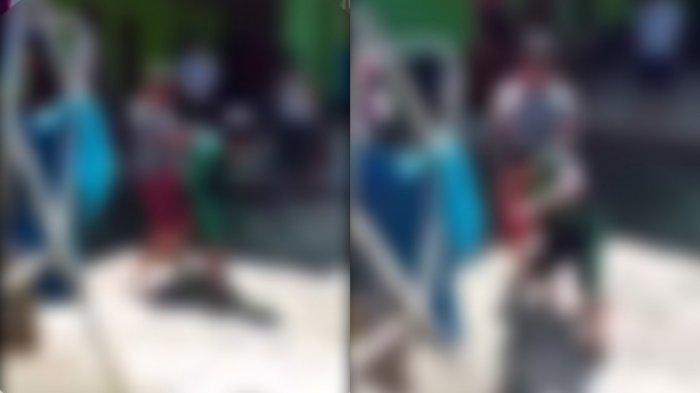 Beredar video seorang bocah menganiaya teman sebayanya. Diduga video direkam oleh ayah pelaku.