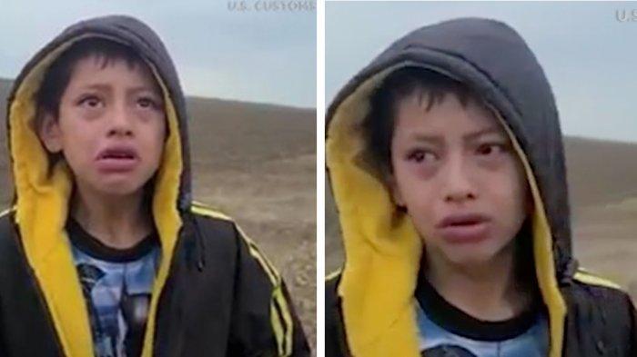 VIDEO Bocah 10 Tahun Terlantar Sendirian di Perbatasan Amerika-Meksiko, Menangis Minta Tolong