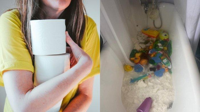 Ibu Ini Borong 18 Gulung Tisu Akibat 'Panic-Buying' Corona, Terkejut Semuanya Dibuang oleh Anak