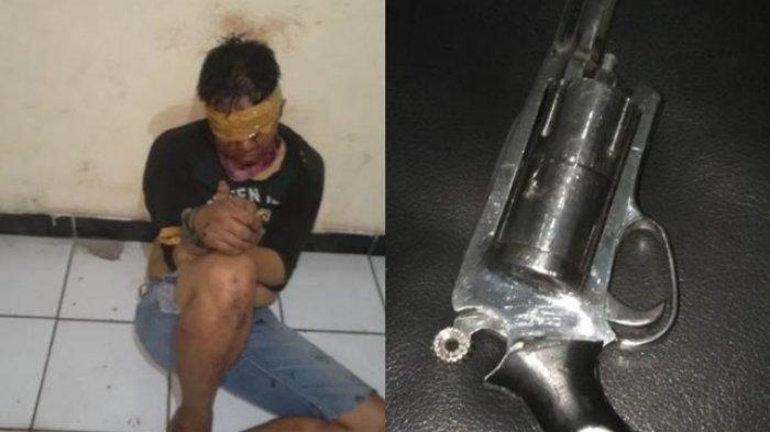 Dipercaya Punya Ilmu kebal, Pencuri Motor yang Tembaki Warga Hanya Luka Sedikit Saat Dipukul Warga