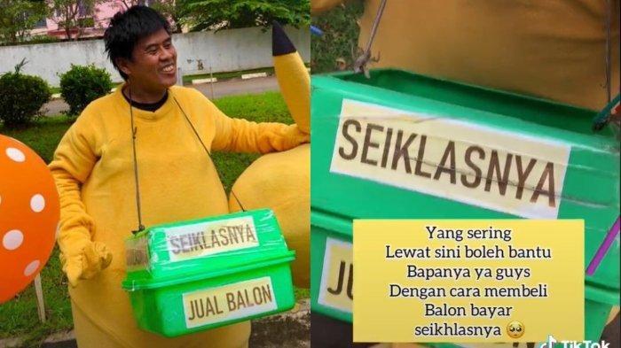VIRAL Badut Penjual Balon Pasang Tarif Seikhlasnya, Netizen Dibuat Haru hingga Ramai Berdonasi