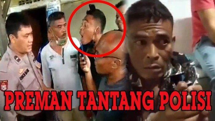 Preman Intimidasi dan Maki-maki Polisi, Setelah Ditangkap Ngakunya Sakit Gigi