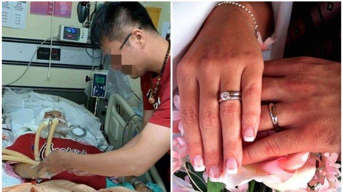 Seorang Pria Menikahi Pacarnya yang Meninggal karena Kecelakaan, Selipkan Cincin & Bisikkan Kata Ini