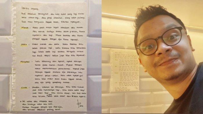 Aksi Suami Minta Maaf pada Istri dengan Tulis Surat Viral, Akui Tak Bermaksud Membuat Standar Baru