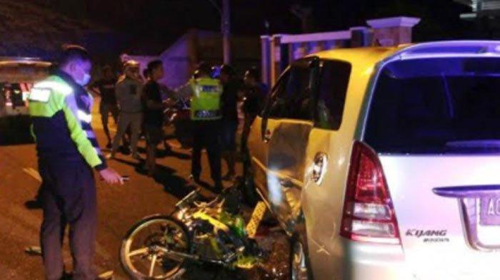 Tabrakan Ninja Vs Innova di Tulungagung, Pengendara Motor Terseret Akhirnya Tewas, Motor Hancur
