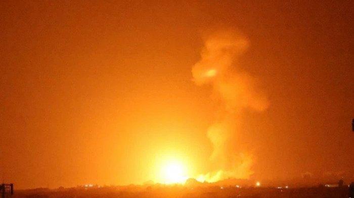 Pesawat Tempur Israel Membom Situs Pembuatan Senjata Hamas di Gaza, Balasan Serangan Balon Pembakar