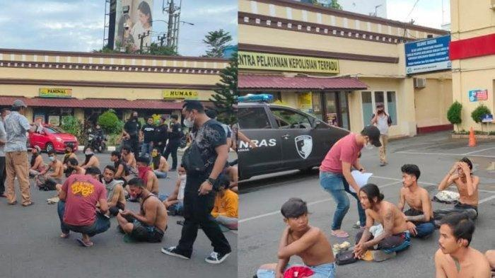 Beroperasi di Pusat Perbelanjaan dan Swalayan Kota Makassar, Seratusan Preman Diamankan Polisi