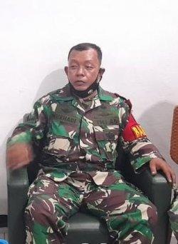 Serda Nurhadi anggota Babinsa Semper Timur Kodim 0502/Jakarta Utara