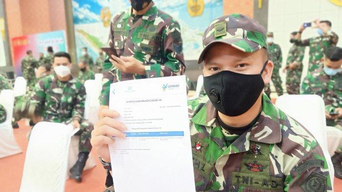 Divaksin Covid-19, Prajurit TNI: Ini Ikhtiar Bersama Supaya Negara Kita Bebas dari Pandemi
