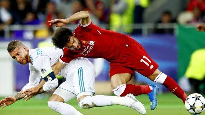 Liga Champions Real Madrid vs Liverpool - Sergio Ramos Lewatkan Reuni dengan Mohammed Salah