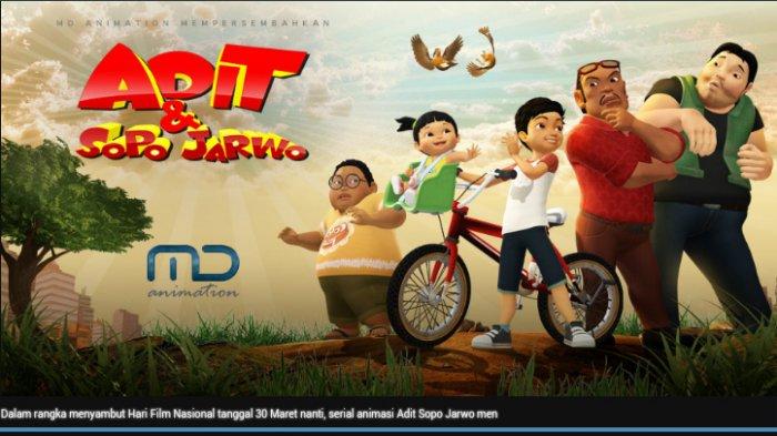 Serial Animasi Adit dan Sopo Jarwo Raih Penghargaan Dari BNN